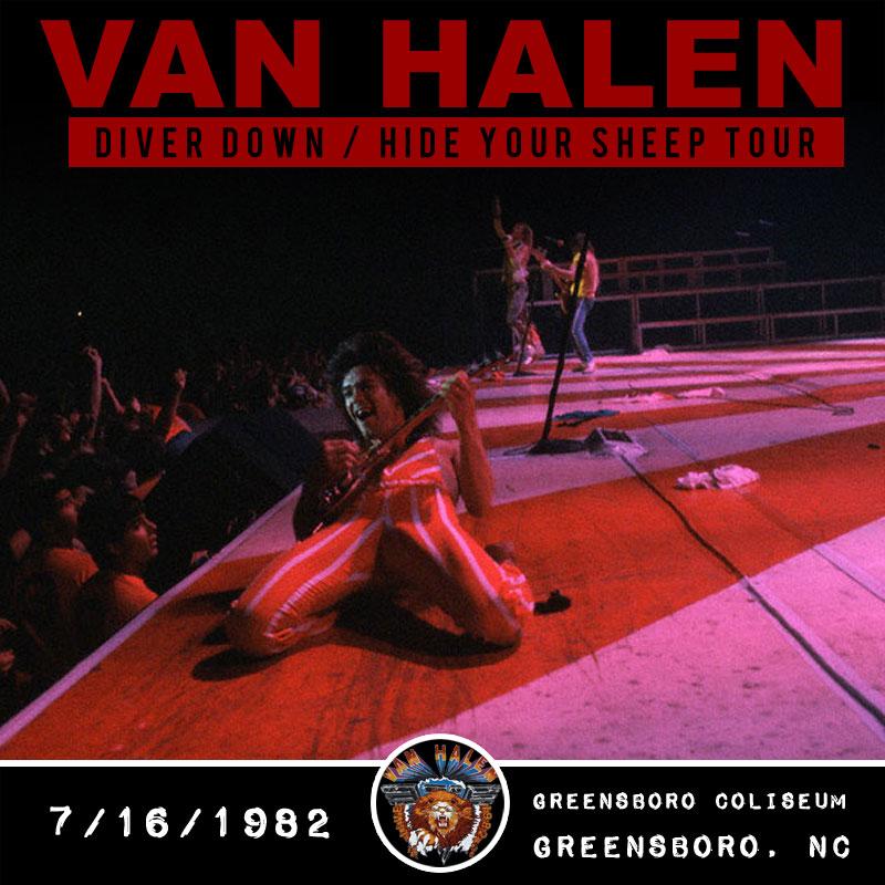 Van Halen 1982 Greensboro Nc Greensboro Coliseum